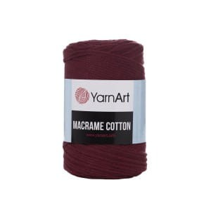 Macrame Cotton bordo